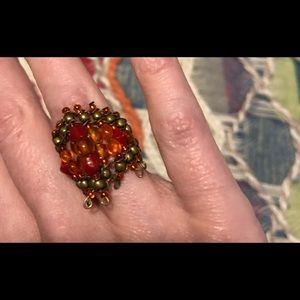 Handcrafted Vintage Beaded Ring